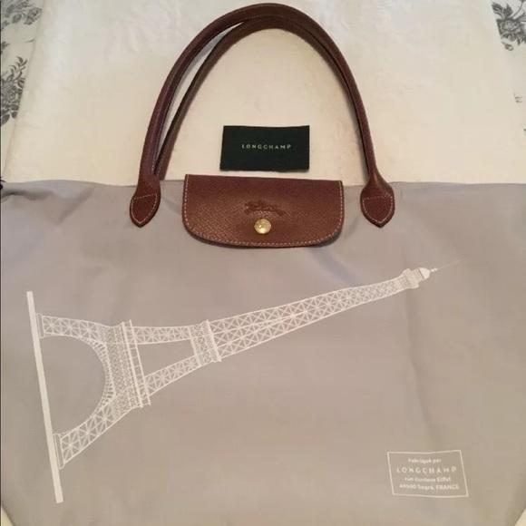 d263cda0da1d Longchamp Handbags - Longchamp Le Pliage Tote Eiffel Tower Shoulder Bag